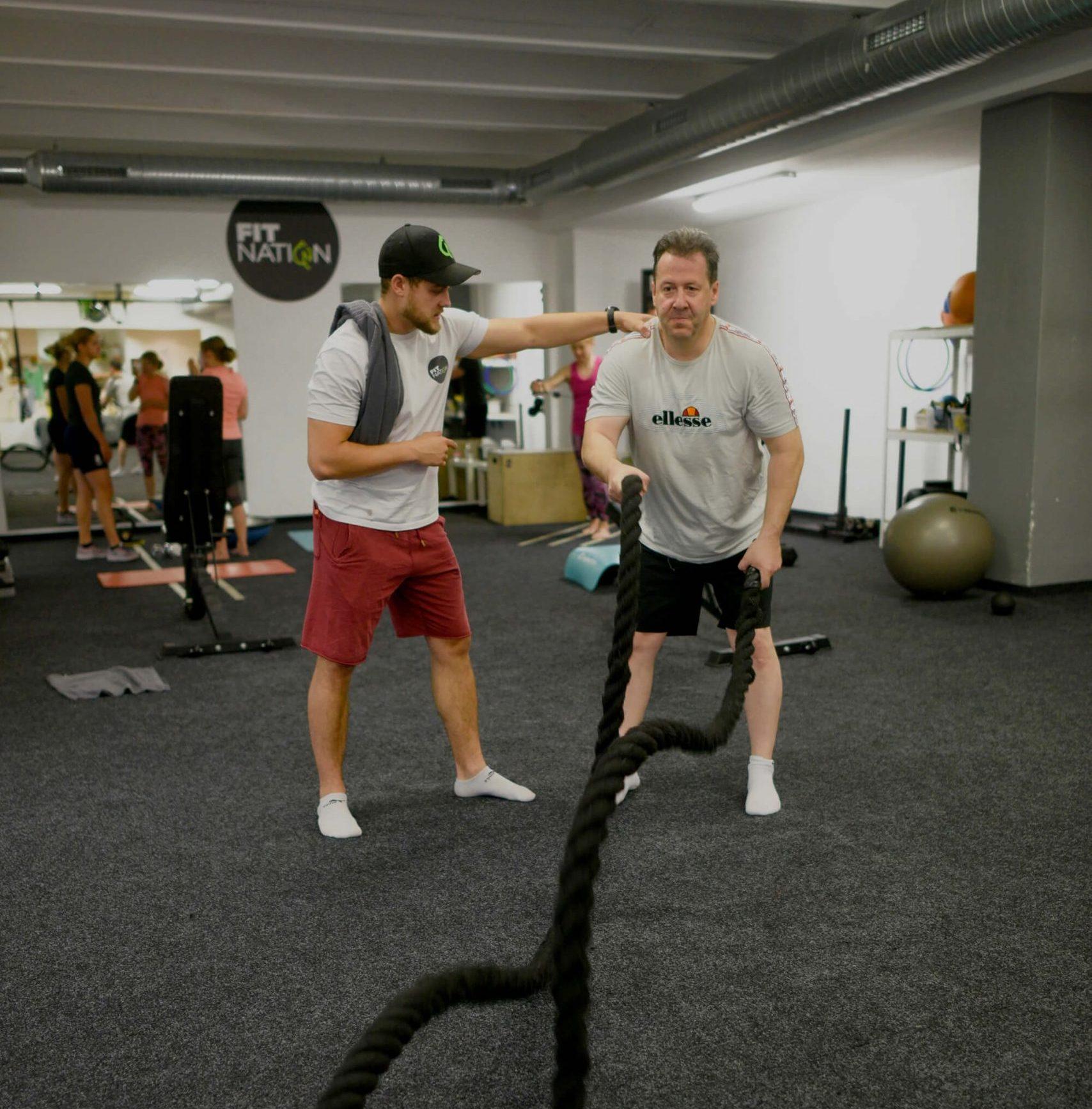 silový tréning s trénerom