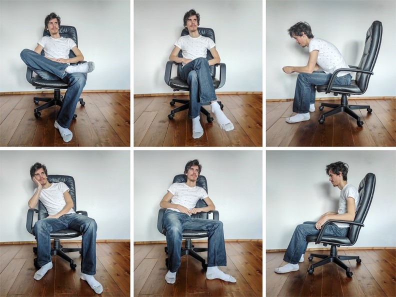 nesprávne polohy pri sedení